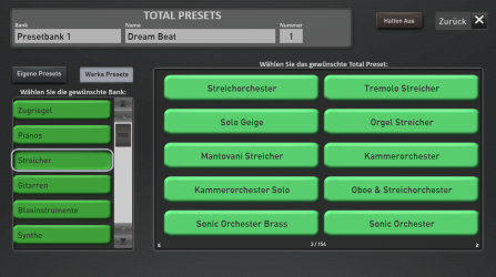 The preset registration library