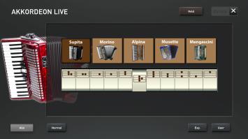 The accordion live preset registrations